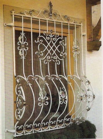 حفاظ پنجره لوکس سفید