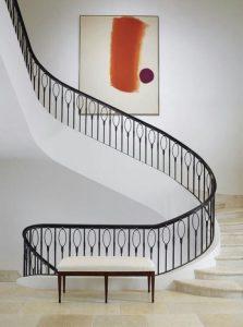 نرده راه پله مشکی و جذاب