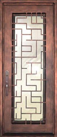 درب فلزی با طراحی هزارتو